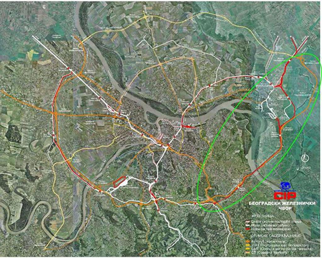 Teretna obilazna pruga Beli Potok - Vinča - Pančevo Glavna