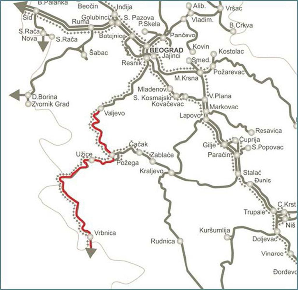 Rekonstrukcija pruge Resnik – Vrbnica, deonica Valjevo – Vrbnica