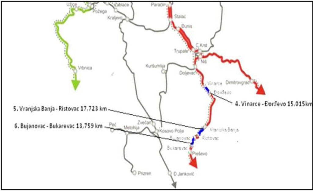 Rekonstrukcija tri južne deonice Koridora X (46,5km)