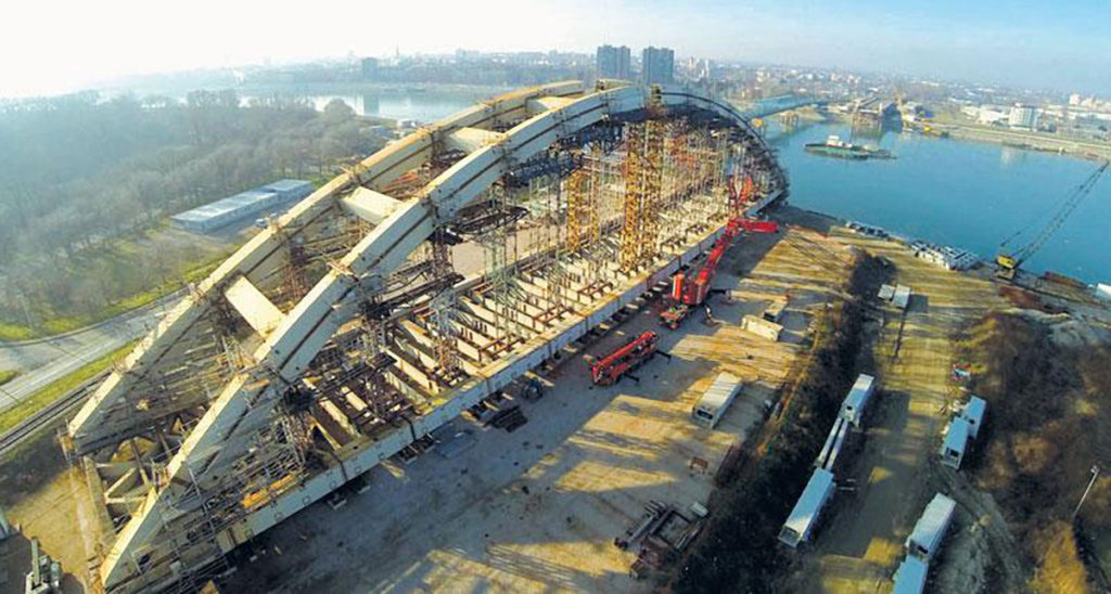 Izgradnja železničko-drumskog mosta preko reke Dunava u Novom Sadu (Žeželjevog most)