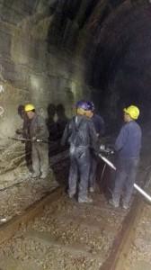 """Prva i druga faza sanacije tunela """"Petrovac"""" na barskoj pruzi"""